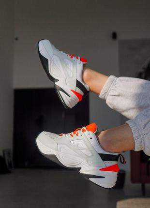 Nike m2k tekno white/orange🔺 женские кроссовки nike 🔺 36-40
