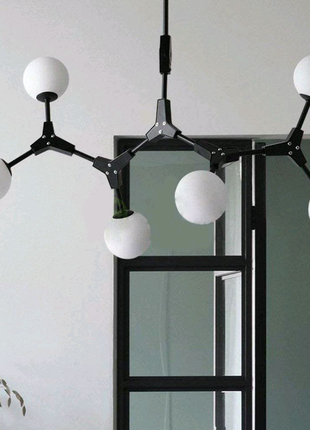 Скандинавский стиль люстры на 6 светильников Molekul 6 black