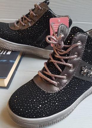 Легкие утепленные ботинки на флисе для девочки с супинатором