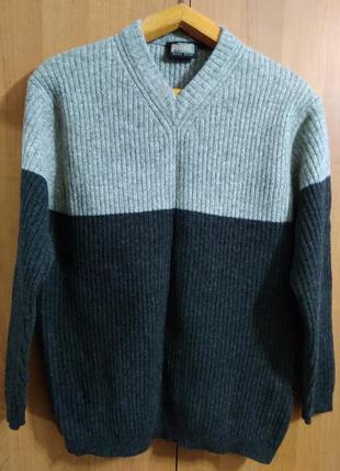 Натуральный шерстяной пуловер pigdor mens style свитер