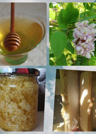 Мед настоящий, качественный со своей пасеки