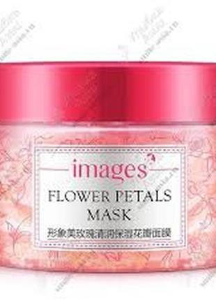 Маска для лица гелевая с лепестками роз images