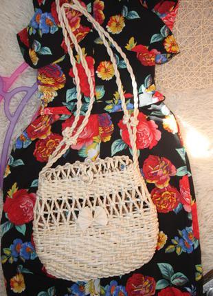 Плетенная сумка, сумочка
