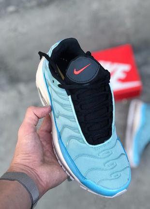 Кроссовки nike air max 97 plus mica green голубые