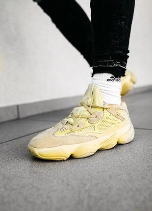 Кроссовки adidas yeezy boost 500 super moon бежевые
