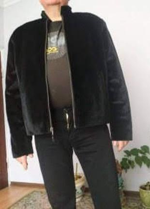 Нова шкіряна двостороння куртка р50-52