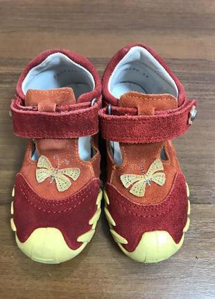 Замшевые туфельки макасинки для девочки Elefanten