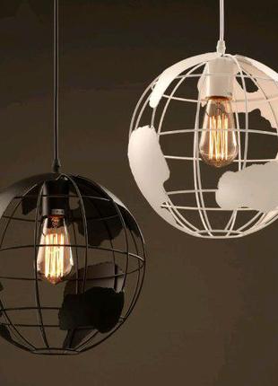 Подвесной светильник в виде планеты из металла The World 1 ламп