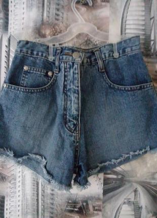 Шорты джинс с завышеной талией