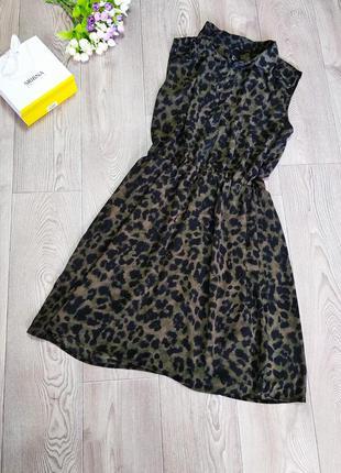 Летнее платье летний сарафан с леопардовой расцветкой камуфляж