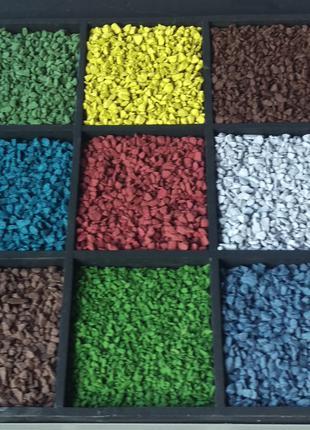 Цветной декоративный щебень гравий крошка