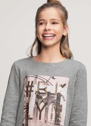 Фирменный модный свитшот c&a германия р.128,134/140