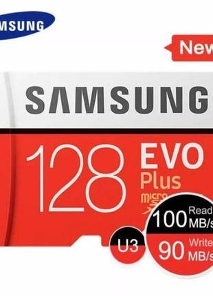 Карта памяти Samsung EVO Plus 128Gb SDXC UHS-1 U3 Class 10 Mic...