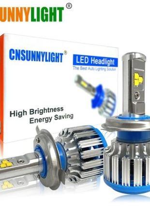 Светодиодные Авто LED/Лед лампы H4 70w 7000lm Cnsunnylight