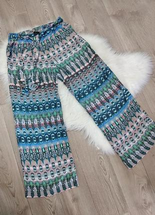 Летние свободные штаны брюки широкие кюлоты на резинке