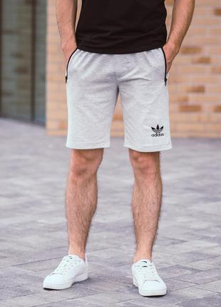 Серые мужские трикотажные шорты высокого качества