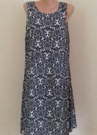 Шифоновое платье с принтом большого размера