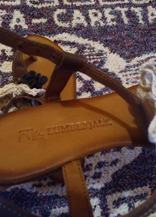Босоножки-вьетнамки lumberjack оригинал натуральная кожа новые