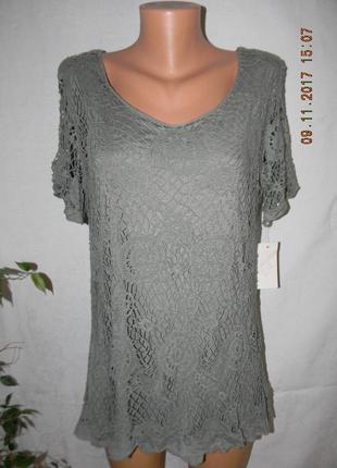 Ажурная новая блуза италия