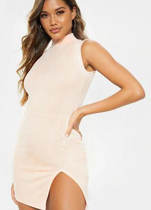 Нежно розовое мини платье 🔥prettylittlething🔥 базовое платье б...