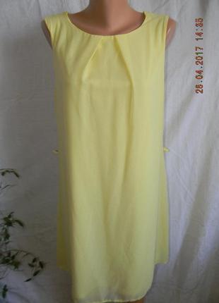 Лимонное новое платье прямого кроя