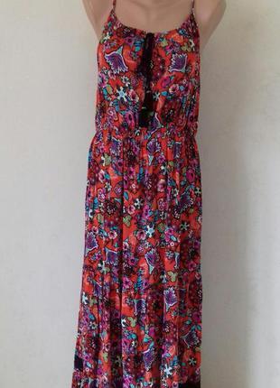 Новое натуральное платье на тонких бретелях george
