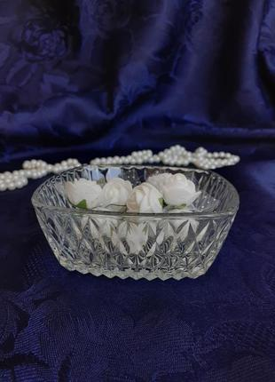 Пиала розетка креманка стекло ссср клеймо зудова ваза для конф...
