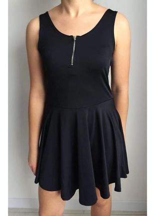 Черное платье, плаття, платье майка, модное платье.