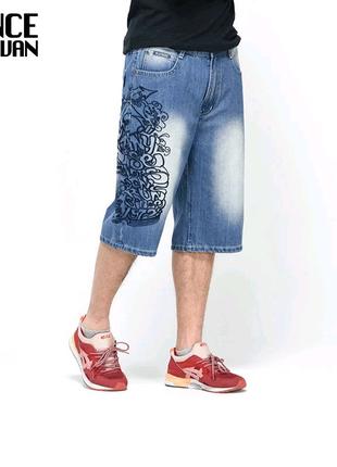 Шорты бриджи мужские джинсовые xxl  размер. На фото есть в см