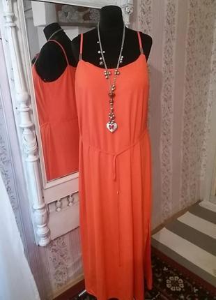 Шикарное платье-сарафанf&f. р.54.много вещей больших размеров