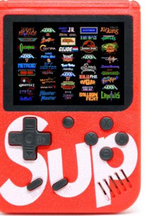 Портативная игровая консоль Ретро Sup Game box Red 400 игр в 1 пр