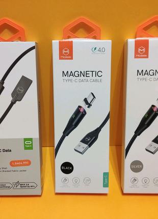 Магнитный кабель Type-C Mcdodo Шнур Зарядка Android Xiaomi Samsun