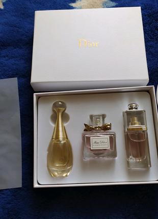 Набор женских духов Dior 3 по 30 мл