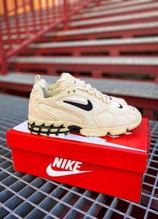 "Nike x stüssy air zoom spiridon cage 2 ""fossil / black"