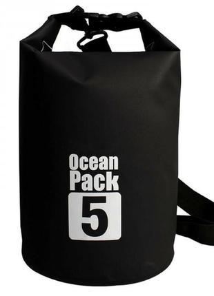 Водонепроницаемый рюкзак ocean pack 5 л, черный