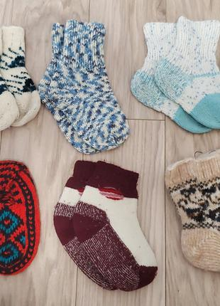 Носки детские, носочки, колготки, Новые и Б/У, вязаные