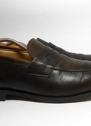 Мужские кожаные туфли лоферы church's england, размер 44.5 - 45