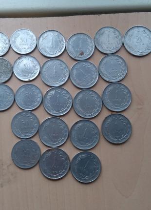 Турецкие обиходные монеты 62-93 годы