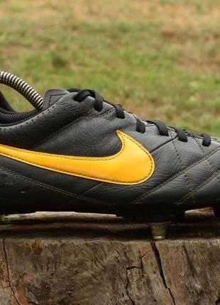Кожаные футбольные бутсы nike tiempo оригинал, размер 40 - 41 ...