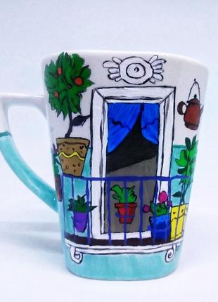Керамическая кружка, чашка на подарок, кружка ручной работы,