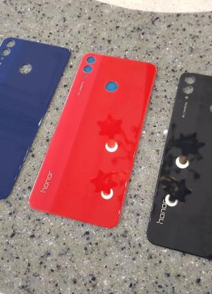 Honor 8X задняя крышка стекло Black / Blue/ Red на замену зад