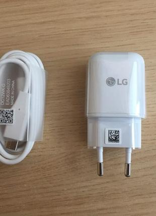 LG G6 зарядное и кабель USB Type C комплект FAST новый type-c ...