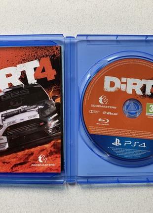 Dirt 4 диск PS4 playstation ps4 гра dirt4