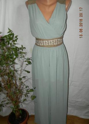 Нарядное длинное шифоновое платье-комбинезон soma