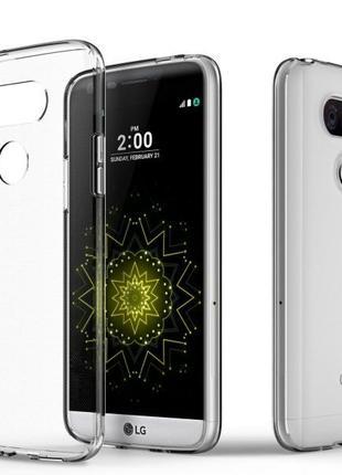 LG G5 G6 G7 G8 / LG V20 V30 V40 V50 чехол прозрачный lg силико...