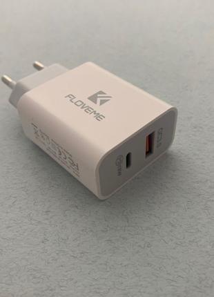 Floveme быстрое зарядное 18W на 2-USB Type-C PD 3.0 quick char...