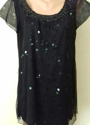 Красивая нарядная блуза вс пайетками