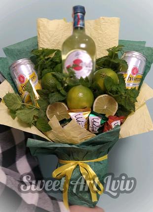 Фруктовий букет, букет з фруктів, подарунок для неї, букет