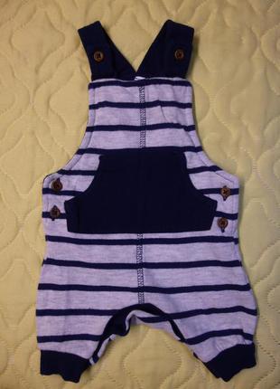 Детский боди комбинезон на мальчика бренда f&f baby размер 0-1...