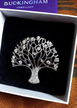 Бижутерия брошь дерево жизни buckingham jewellery